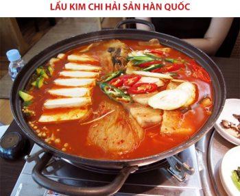 Món lẩu kim chi hải sản Hàn Quốc