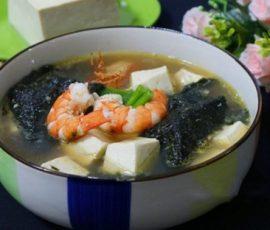 Món canh rong biển nấu tôm ngon bổ dưỡng