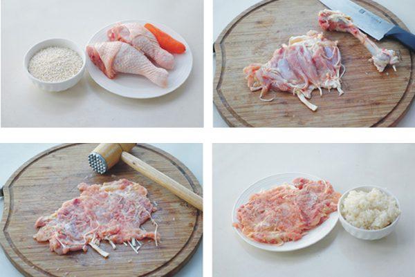 Sơ chế phần đùi gà
