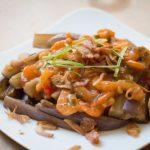 Món cà tím sốt tôm khô đơn giản cho bữa tối