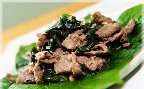 Món thịt bò xào lá lốt ngon cơm cho bữa tối