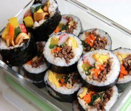 Món cơm cuộn rong biển Hàn Quốc đơn giản tại nhà