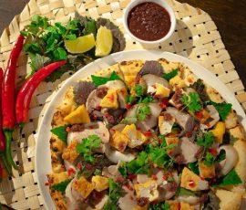 Món Pizza bún đậu mắm tôm mới lạ hấp dẫn