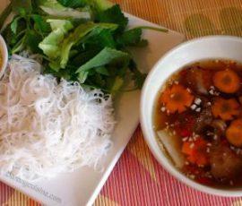 Món bún chả Hà Nội ngon hấp dẫn tại nhà