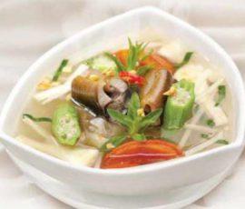 Món canh chua lươn bồn bồnngon lạ miệng