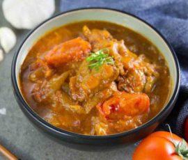 Món sụn heo om cà chua mềm ngon hấp dẫn