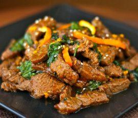 Món thịt bò sốt cam chua ngọt ngon khó cưỡng