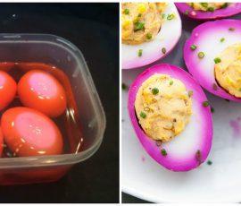 Trứng ngâm chua ngọt vừa ngon vừa bắt mắt