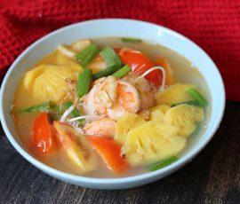 Canh chua tôm nấu dứa thanh mát giải nhiệt