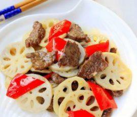 Món thịt bò xào củ sen ngon bổ dưỡng