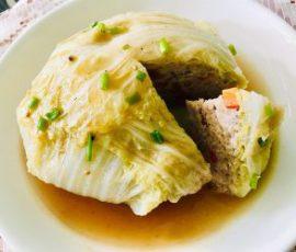 Món cải thảo bọc thịt hấp thanh đạm ngon ngọt