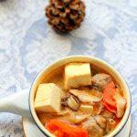 Món canh đậu hũ thơm hương nấm ngọt vị thịt