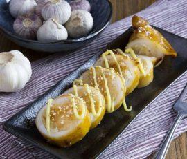 Món mực nhồi cơm nướng kiểu Nhật giòn thơm