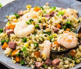 Món cơm chiên dương châu hạt tơi không bị vón cục