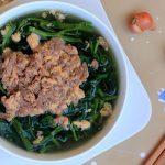 Món canh cua rau muống thanh mát giải nhiệt