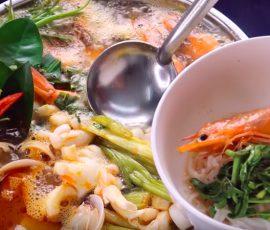 Món lẩu thái hải sản chua chua cay cay