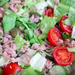Món salad cá hộp chua ngọt rau giòn ngon