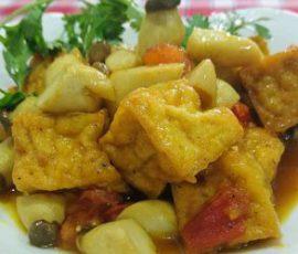 Món nấm đùi gà kho đậu hũ thanh mát hao cơm