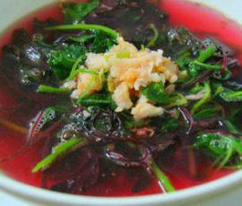 Món canh rau dền tôm khô ngon ngọt