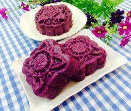 Bánh trung thu khoai lang tím không cần lò nướng