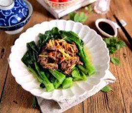 Món bò hấp rau cải ngọt ngon hấp dẫn