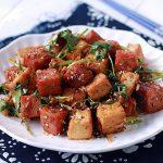 Món đậu hũ xóc thịt heo hộp lạ miệng hấp dẫn