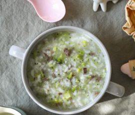 Món cháo thịt bò bông cải cho bé đầy dinh dưỡng