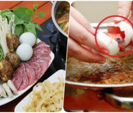 Món lẩu hột vịt lộn bổ dưỡng cho cả nhà thưởng thức
