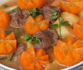 Món bò hầm khoai tây ăn hoài không ngán