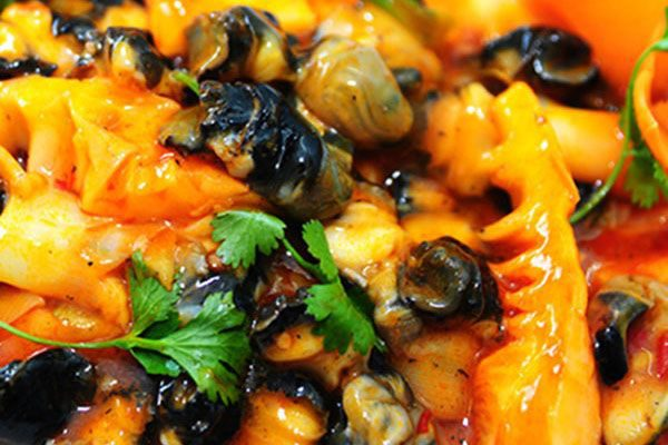 Món ốc xào chuối đậu cực ngon hấp dẫn