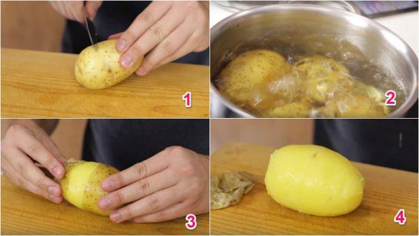 Cách lột vỏ khoai tây