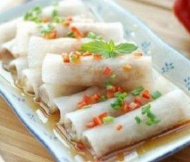 Món củ cải cuốn tôm thịt hấp ăn không ngán