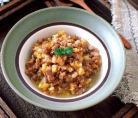 Món thịt băm khoai tây rim mặn ngon đậm đà