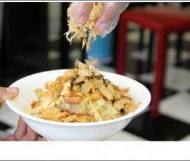 Món xôi gà nấm hương thơm ngon chắc bụng