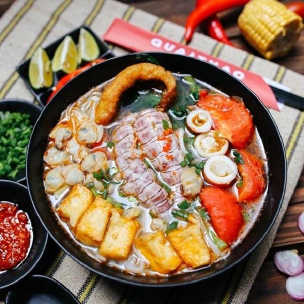 Món bún hải sản chua cay ngon miệng hấp dẫn