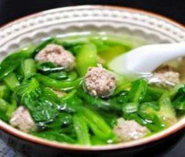 Món canh rau cải thịt bằm ngon ngọt dễ nấu