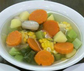 Món canh rau củ chay thơm ngọt thanh mát