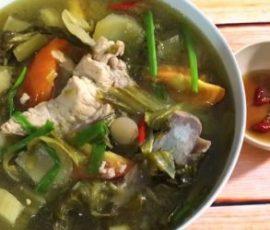 Món canh sườn nấu chua dễ ăn không ngán