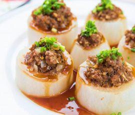 Món củ cải nhồi thịt bò thanh mát bổ dưỡng