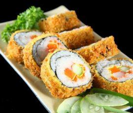 Món sushi chiên xù giòn ngon hấp dẫn