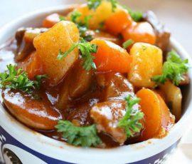 Món thịt bò sốt vang kiểu mới ngon hấp dẫn