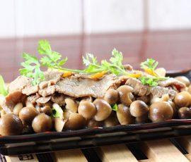 Món thịt bò xào nấm bổ dưỡng cho cả nhà