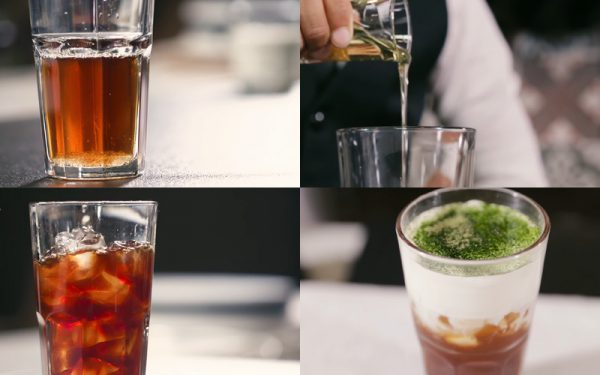Pha trà đen macchiato