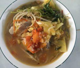 Món canh chua cá diêu hồng cho bữa cơm chiều
