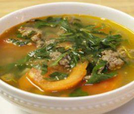 Món canh thịt bò cà chua ngon mê ly