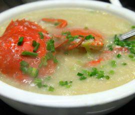 Món cháo cua nấu với rau gì cho bổ dưỡng