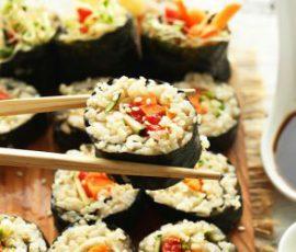 Món cơm cuộn gạo lứt cho người ăn kiêng