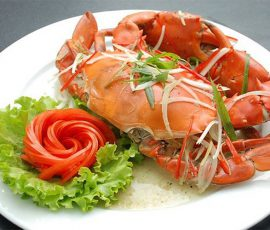 Món cua biển hấp vừa nhanh vừa ngọt thịt