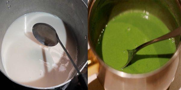 Nấu trà sữa matcha