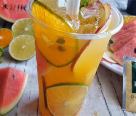 Món trà trái cây mát lạnh giải nhiệt ngày nắng